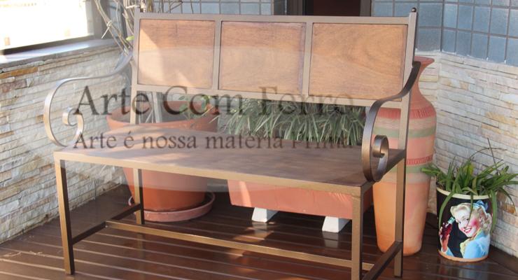 banco de jardim ardosia : banco de jardim ardosia:serralheria oficina do ferro artesanal: aparador em ferro trabalhado e